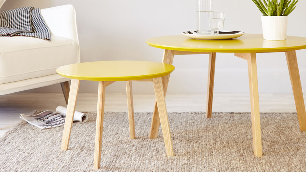Contemporary Yellow Side Table
