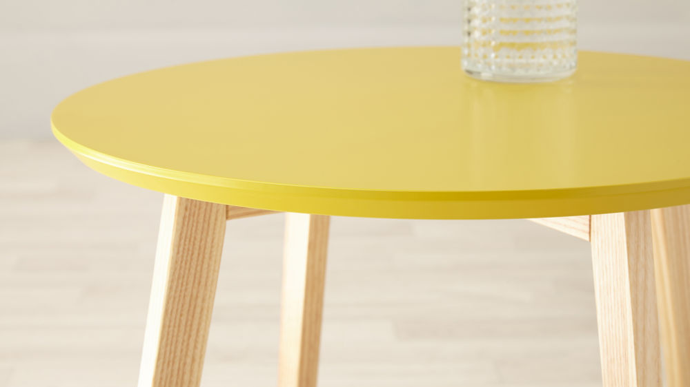 Affordable Modern Yellow Side Table