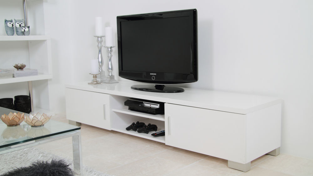 Modern Tv Table White High Gloss Tv Table Storage Unit