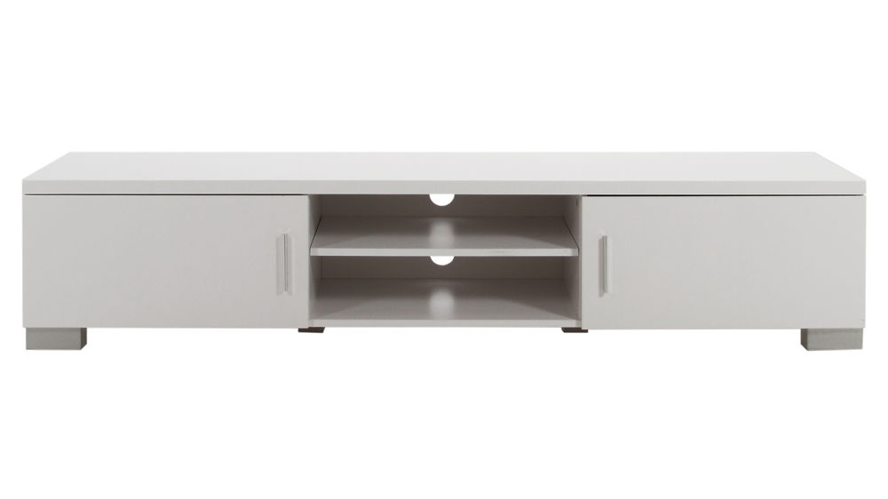 Modern TV Table White High Gloss Table Storage Unit