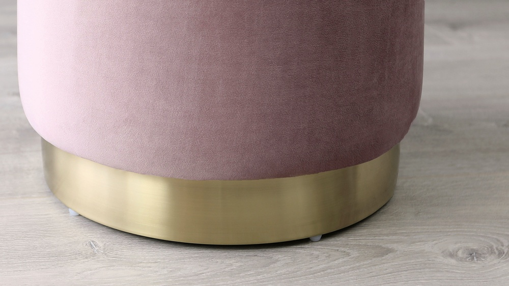 Brushed steel velvet stools