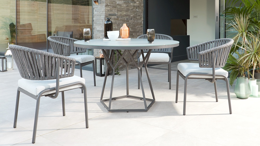 Grey garden furniture