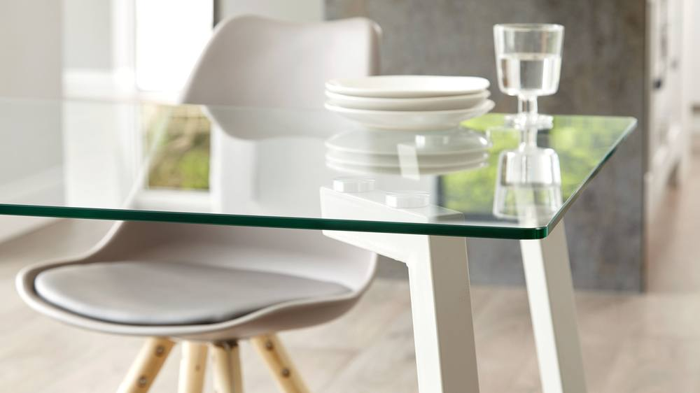 Buy grey gloss and glass table