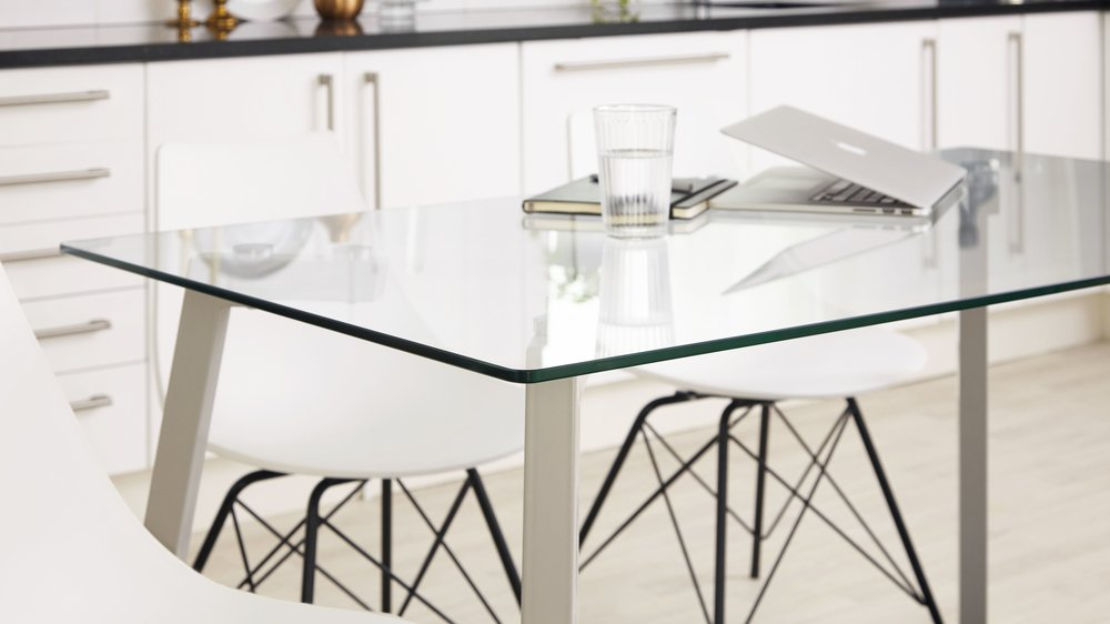 Glass Kitchen table seats 6