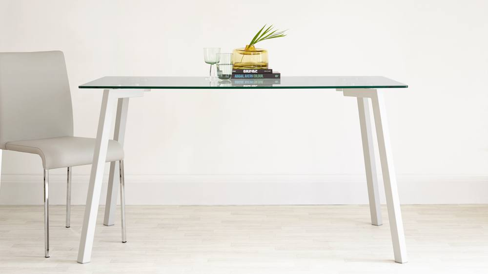 Profile Glass and Grey Gloss Table