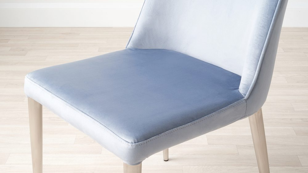 Mellow velvet bench without backrest