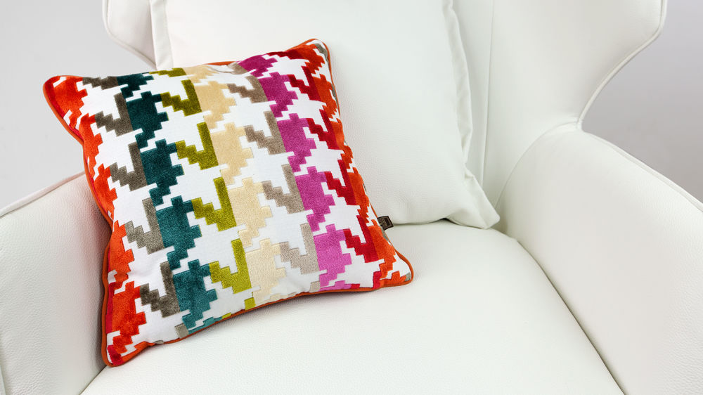 Colourful Patterned Cushion