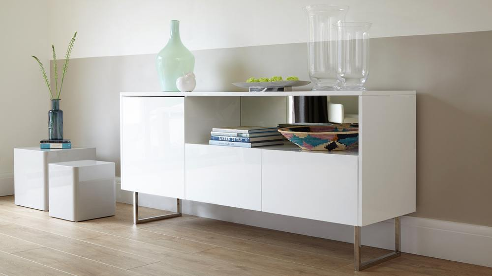 Modern White High Gloss Sideboard Exclusive Collection