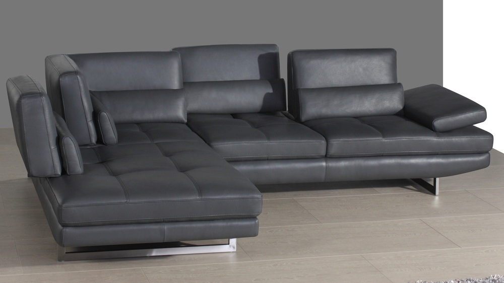 Real Leather Sofa with Adjusting Seats
