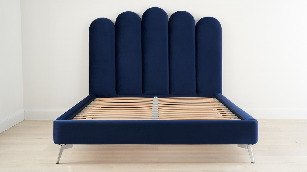 Rene midnight velvet super king bed