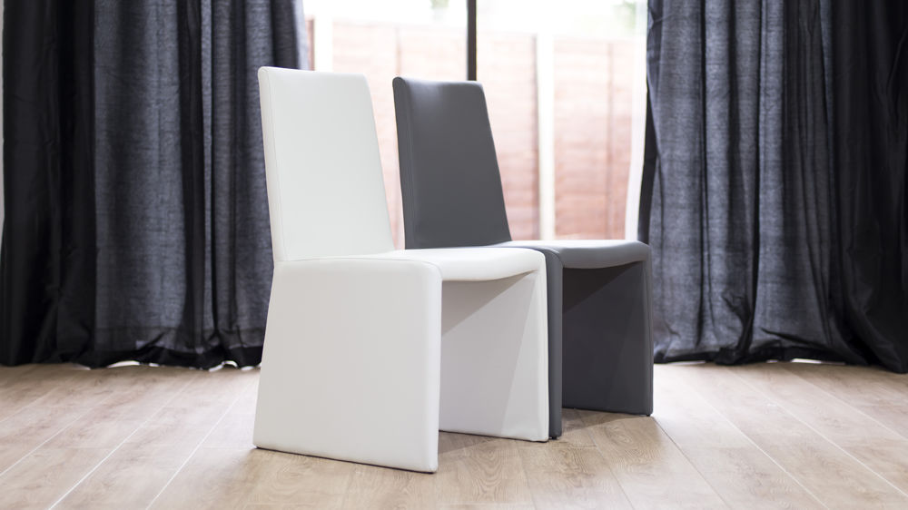 High Quality Faux Leather Box Dining Chairs