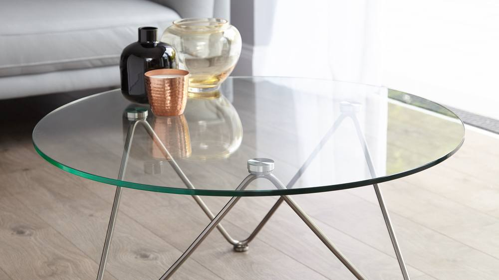 Study glass coffee table