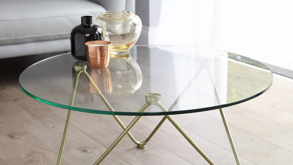 Brass modern coffee table