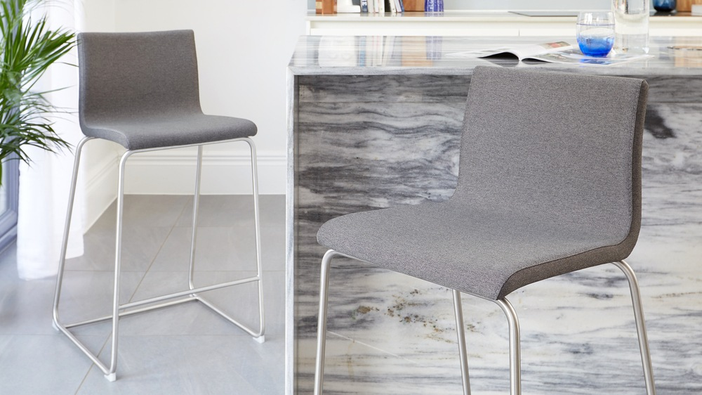 Dark grey simplistic bar stools