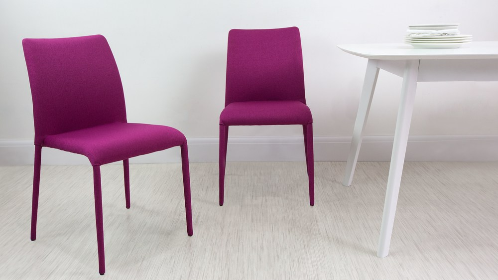 Riva Fabric Dining Chairs Danetti