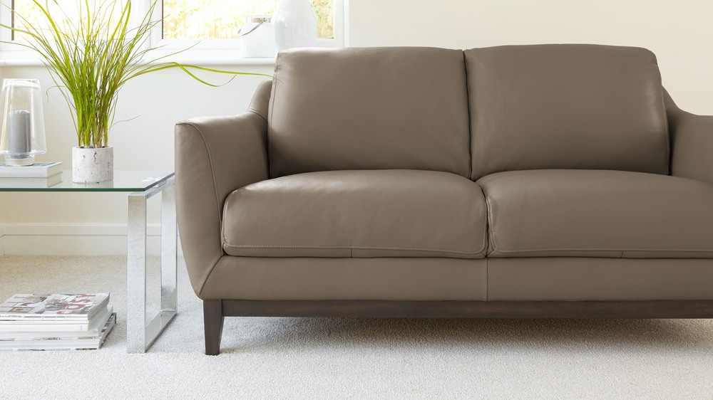 Cashmere Simplistic Leather Sofa