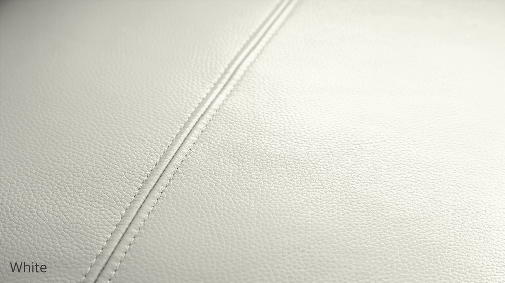 White Textured Leather
