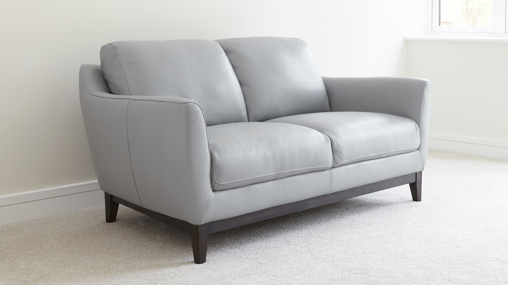 2 Seater Leather Sofa Living Room