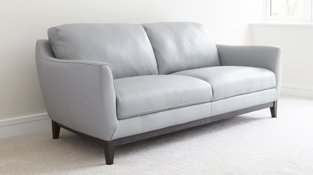 Large three seater leather sofa in colours | UK Delivery