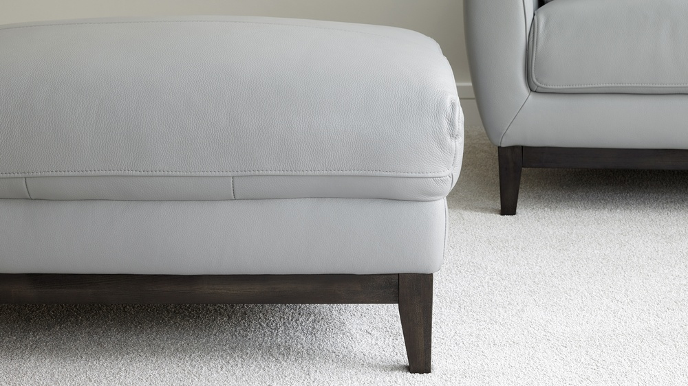 Ice grey footstool