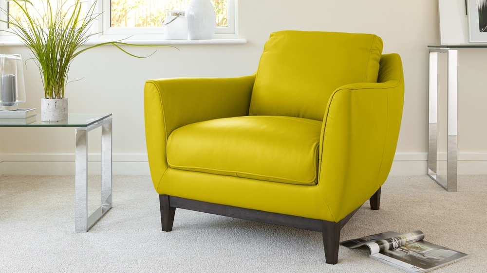 Mustard Yellow Stylish Robin Leather Sofa