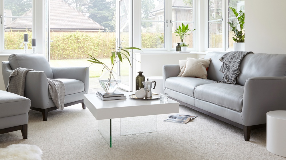 Modern Grey leather Sofa Set