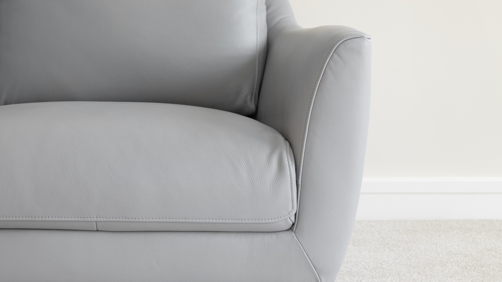 Comfortable Grey Leather Armchair