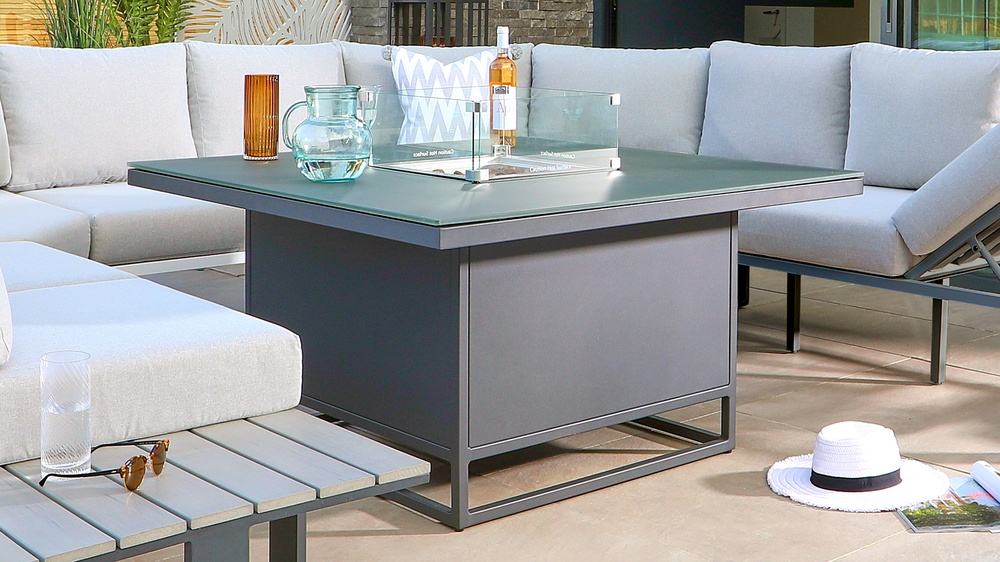 fire pit modern table