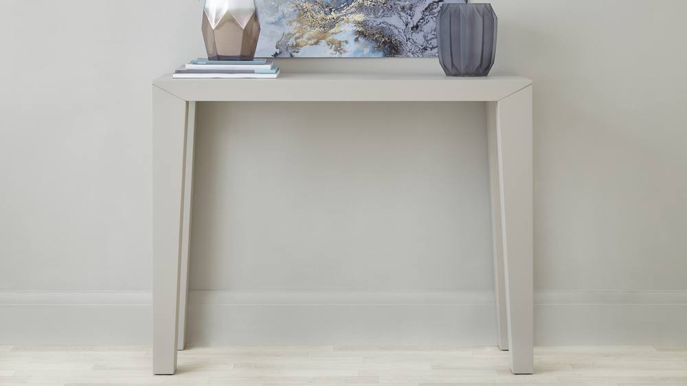 Matt Grey Modern Console Table