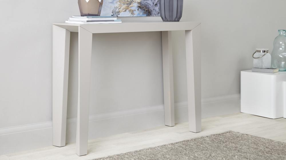 Grey Matt Simplistic Console Table
