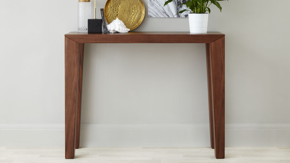 Modern Walnut Console Table