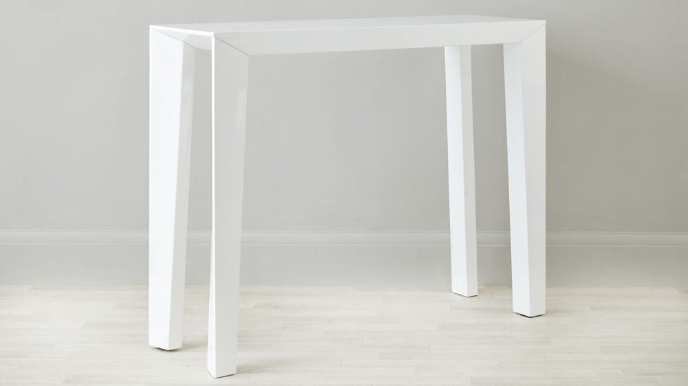 Modern White Gloss Console Table Surface Storage Uk