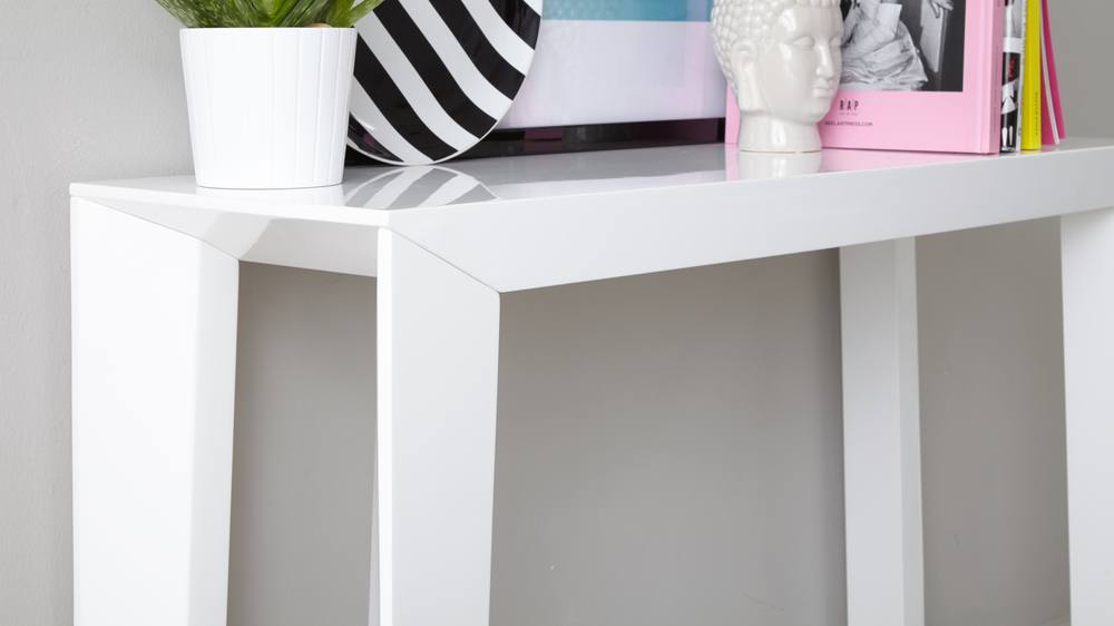 Modern High Quality Strong White Gloss Console Table