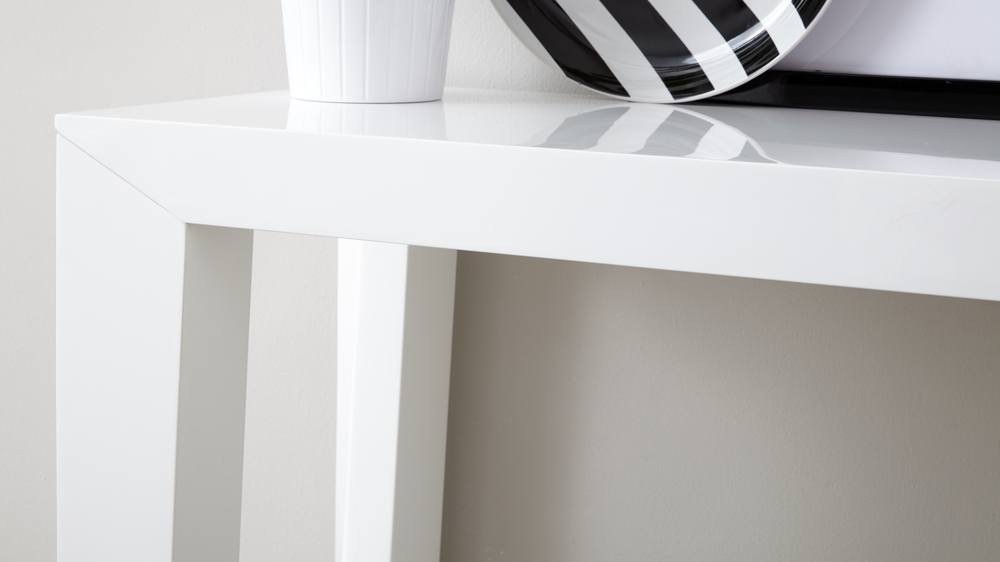 Durable White Gloss Console Table