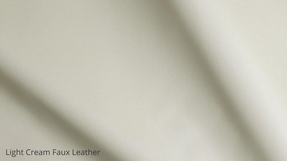 Light cream faux leather furniture