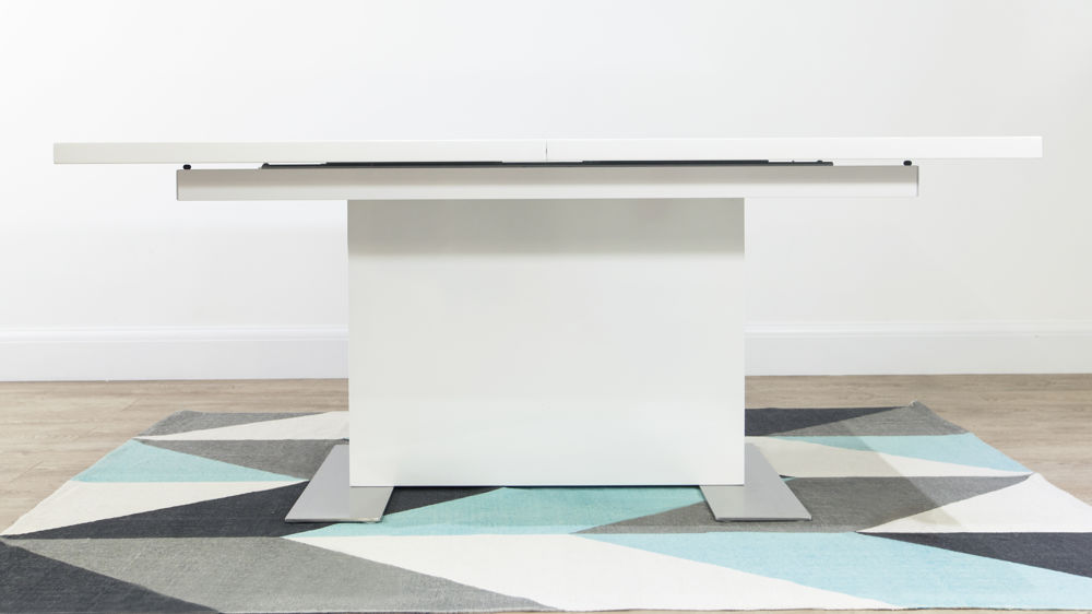 Modern Rectangular White Gloss Dining Table