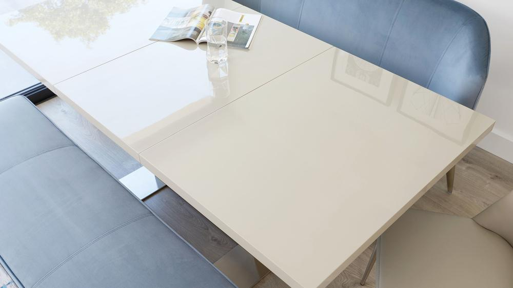 Sanza grey gloss extending dining table