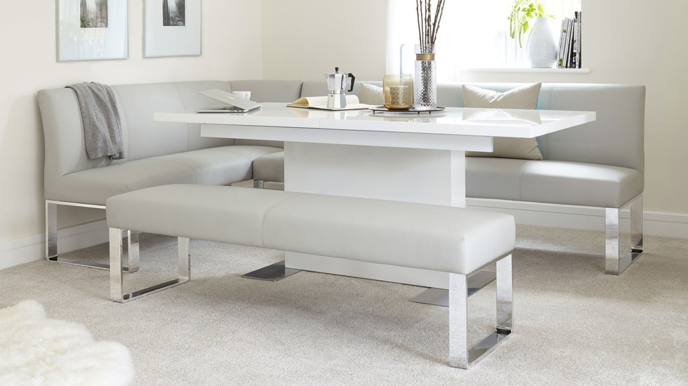 modern white extender table