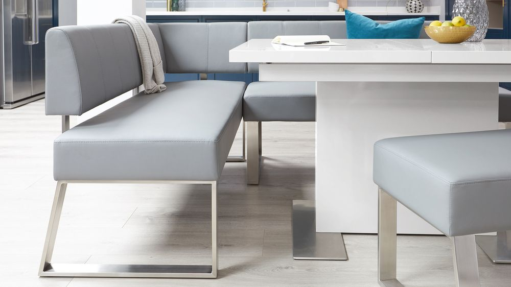 Gloss table and bench dining set