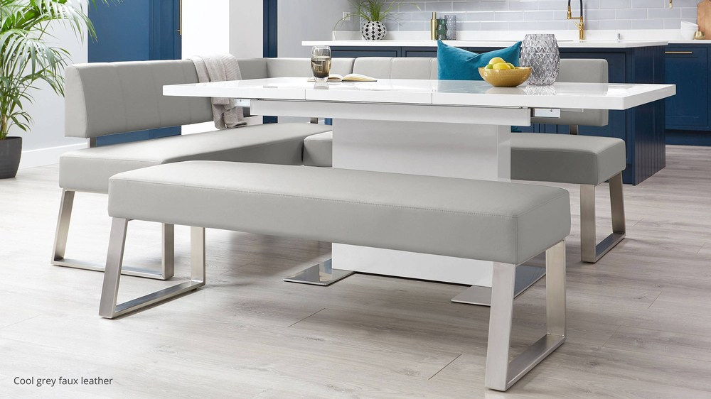 Grey kitchen benches