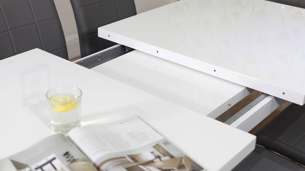 Strong White Gloss Extending Table