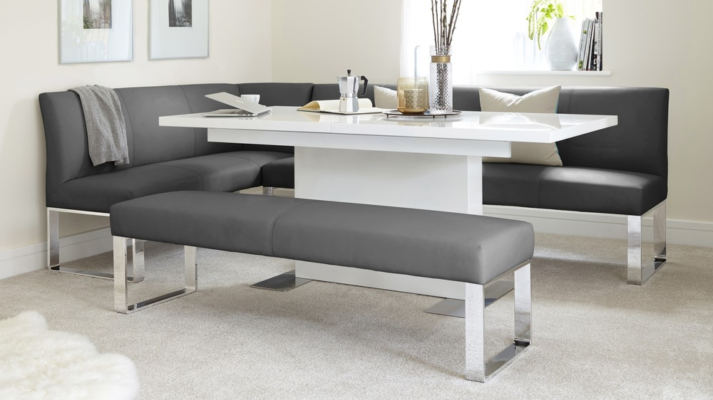 Graphite Grey 7 seater corner bench
