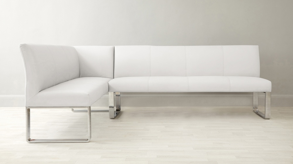 White hand family corner bench
