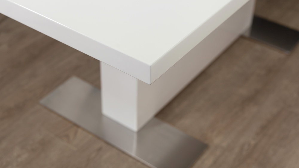 Easy Clean White Gloss Dining Table