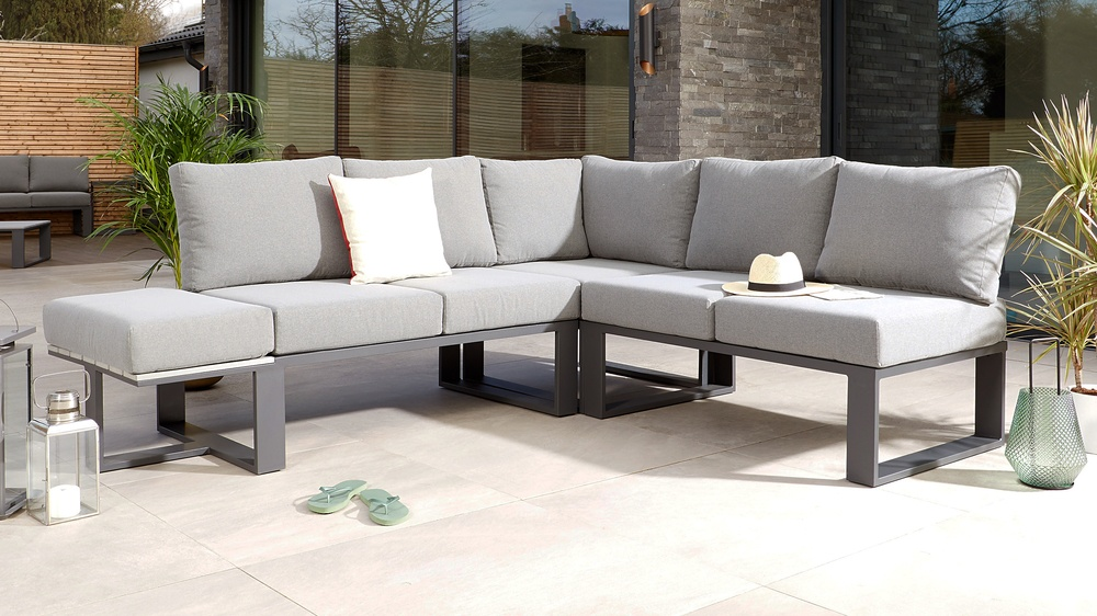 Contemporary corner sofa garden