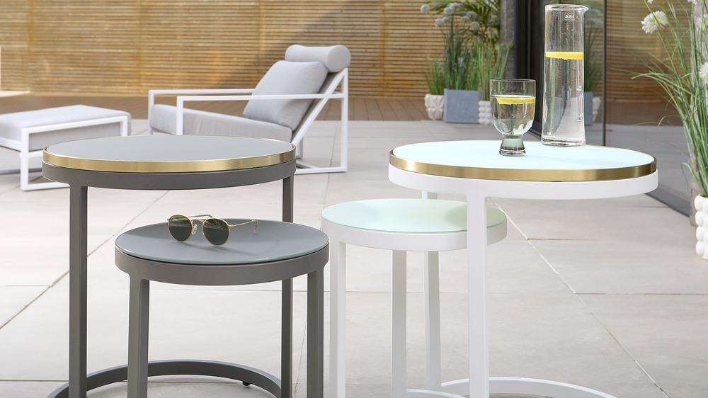 lounger and garden side table sets