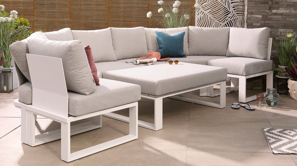Savannah white garden furniture range