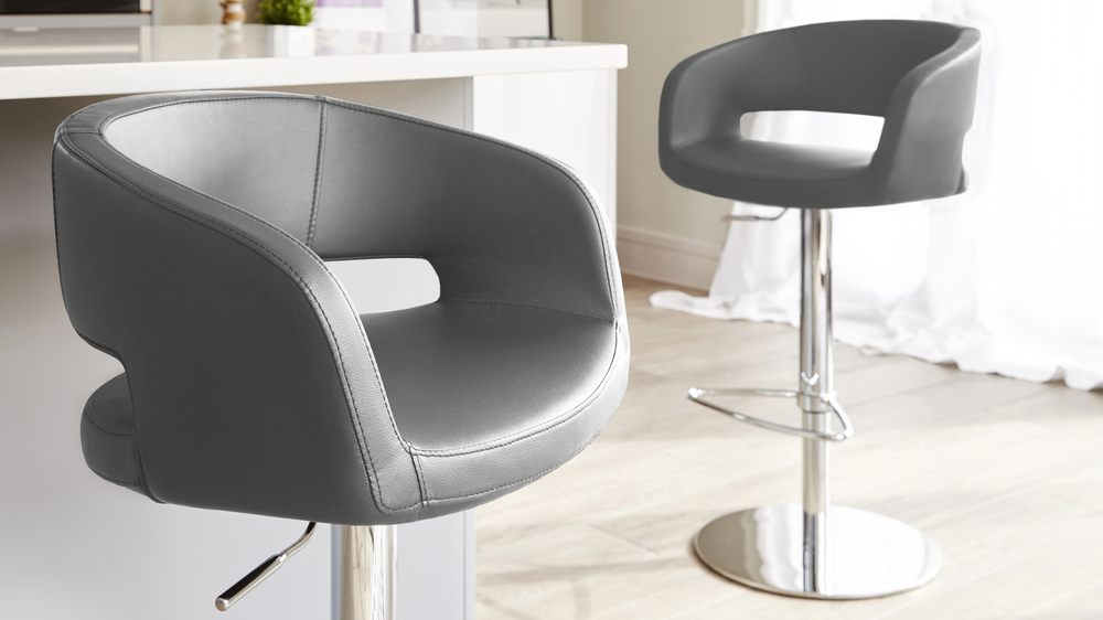 Stylish Gas Lift Bar Stool with Back Rests