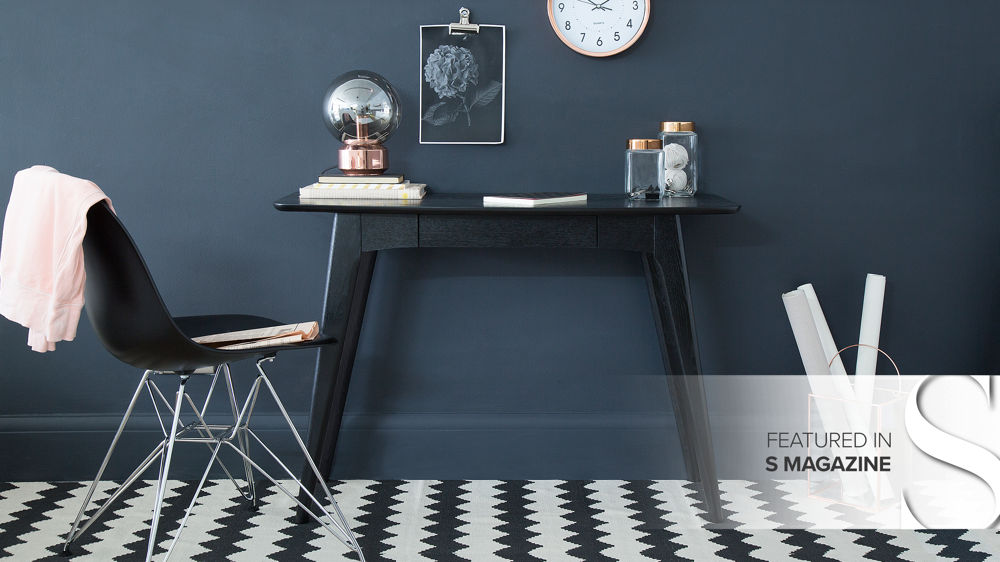 Modern Black Small Desk