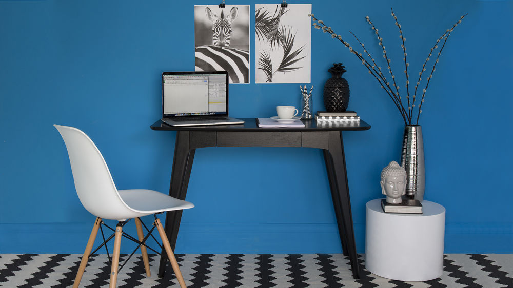 Modern and Contemporary Small Black Desk